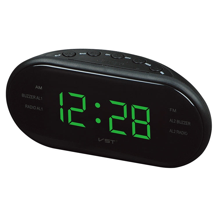 Oval Radio LED Digital Alarm Clock (Green) - Star Produkte