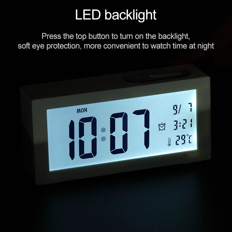 Automatic Night Light Electronic Clock Large Screen Adjustable Backlight Alarm Clock (Gold) |