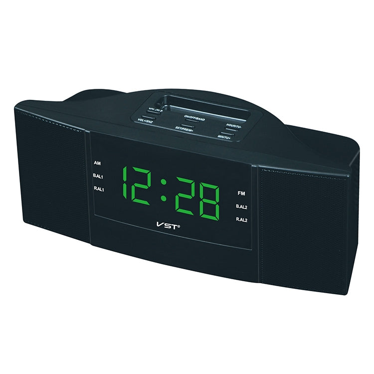 Clock Controlled Radio LED Clock AM / FM Digital Gift (Green) - Star Produkte