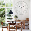 60cm White Living Room Iron Roman Numeral Mute Decorative Wall Clock - Star Produkte