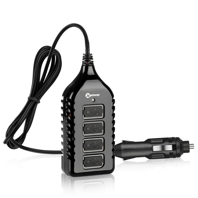 XPower G4 Universal Car 4 USB Ports Quick Charger DC12-24V 7.2A, Cable Length: 1.5m - Star Produkte