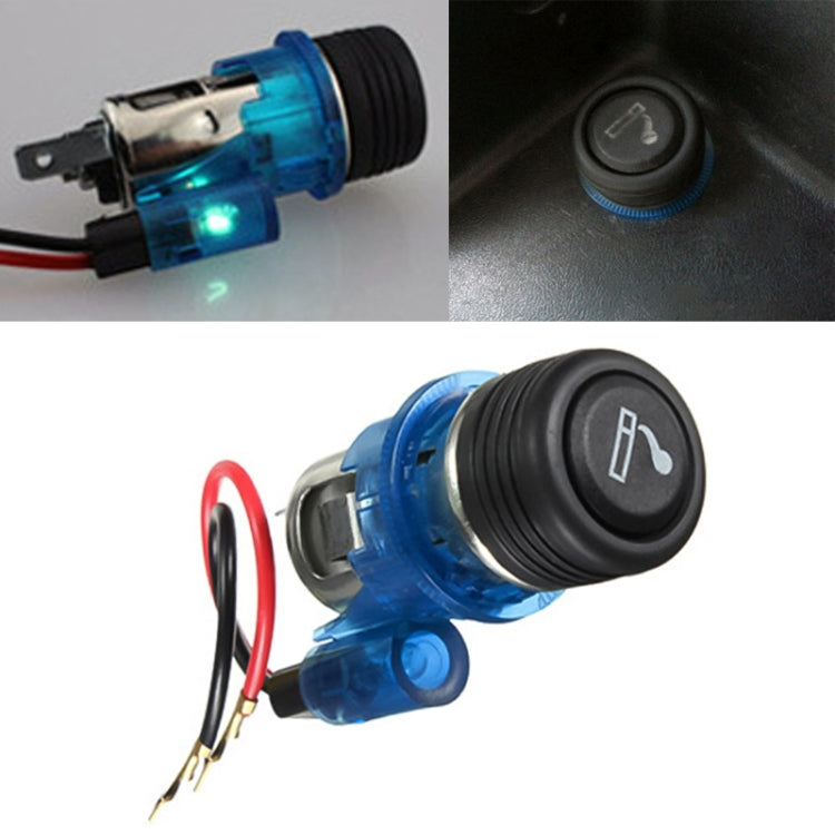 Car 10A 12V European Standard Cigarette Lighter Full Assembly with Light (Blue) |