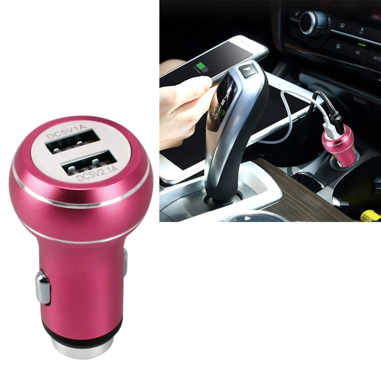DC 12-24V Digital Charger Intelligent Matching Current Intelligent Charge Dual USB Car Charger(Magenta) - Star Produkte
