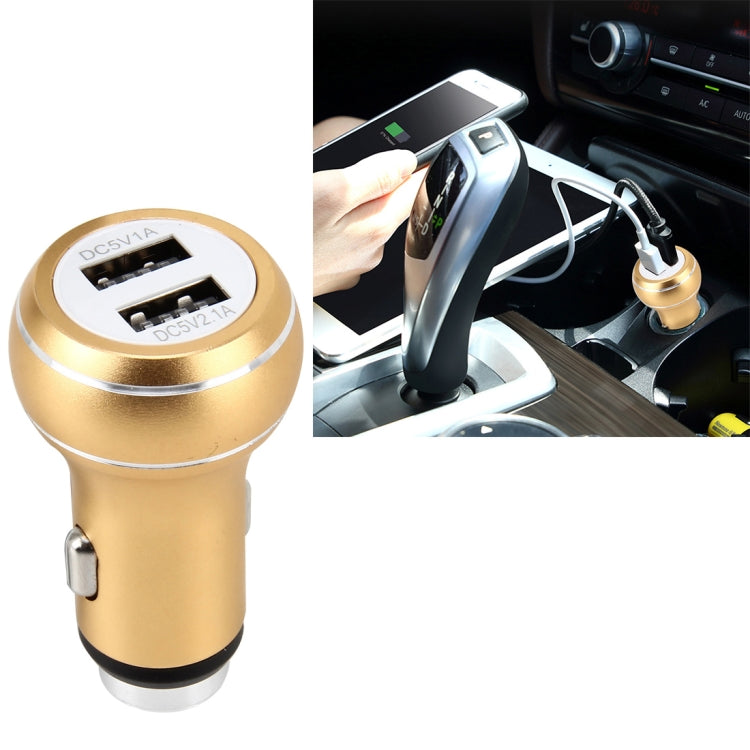 DC 12-24V Digital Charger Intelligent Matching Current Intelligent Charge Dual USB Car Charger(Gold) - Star Produkte