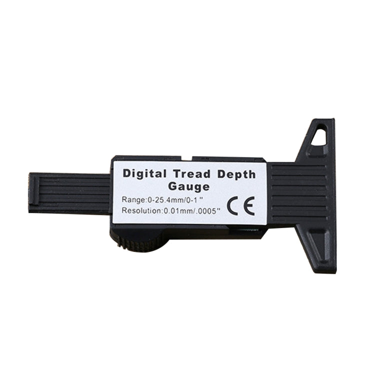 0-25mm Electronic Digital Tread Plan Refinding Rounds Refinding Outcome Exists Tread Tablets Type Gauge Depth Vernier Caliper Measuring Tools(Black)