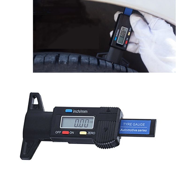 0-25mm Electronic Digital Tread Plan Refinding Rounds Refinding Outcome Exists Tread Tablets Type Gauge Depth Vernier Caliper Measuring Tools(Black) |