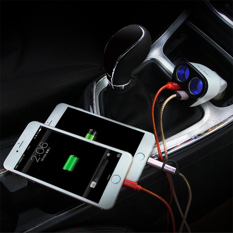 ACCNIC 2 Multi-functional Cigarette Socket Lighter Splitter with 2 USB Ports 3.2A Phone Car Charger |