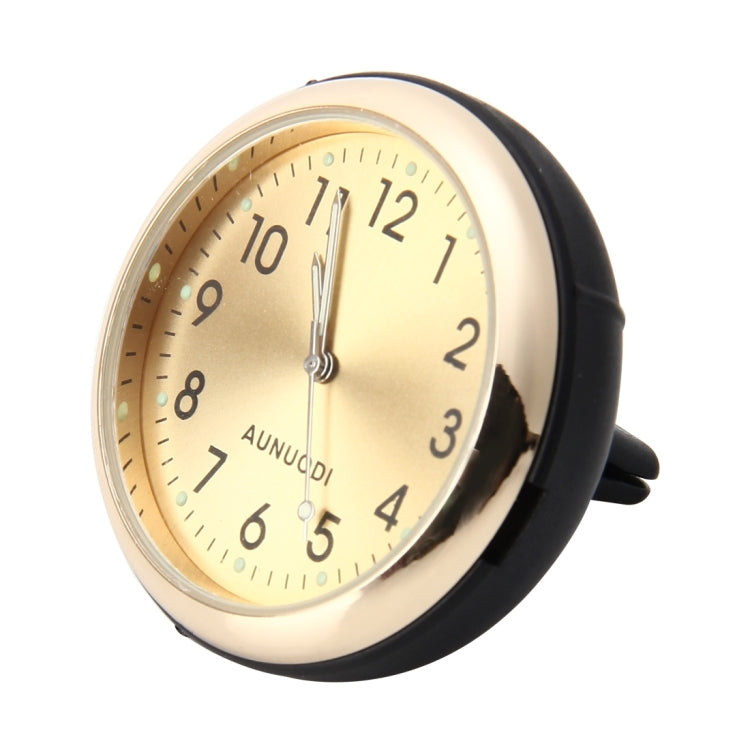 Car Outlet Clock Car Luminous Material Car Clock Car Electronic Watch Car Air Conditioning Outlet Perfume Ornaments with Balm(Gold) - Star Produkte