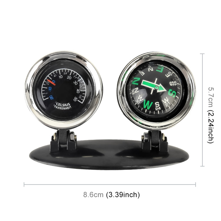 2 in 1 Guide Ball Car Guidance Compass Thermometer Cars Auto Dashboard - Star Produkte