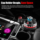 Cup Holder Car Charger Dual Cigarette Lighter 4USB Ports Charger Car MP3 Player (Blue) - Star Produkte