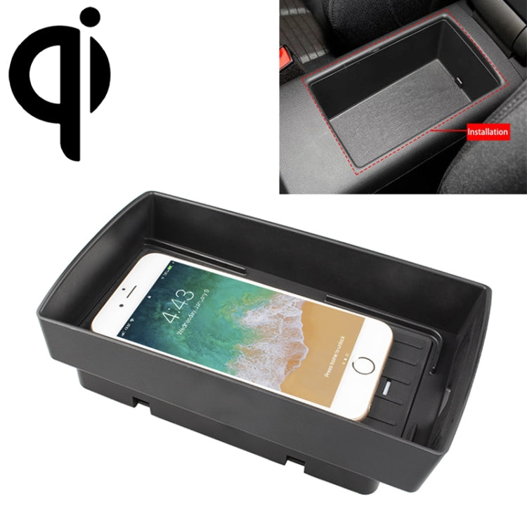 Car Qi Standard Wireless Charger 10W Quick Charging for Audi A3 2014-2019, Left Driving |