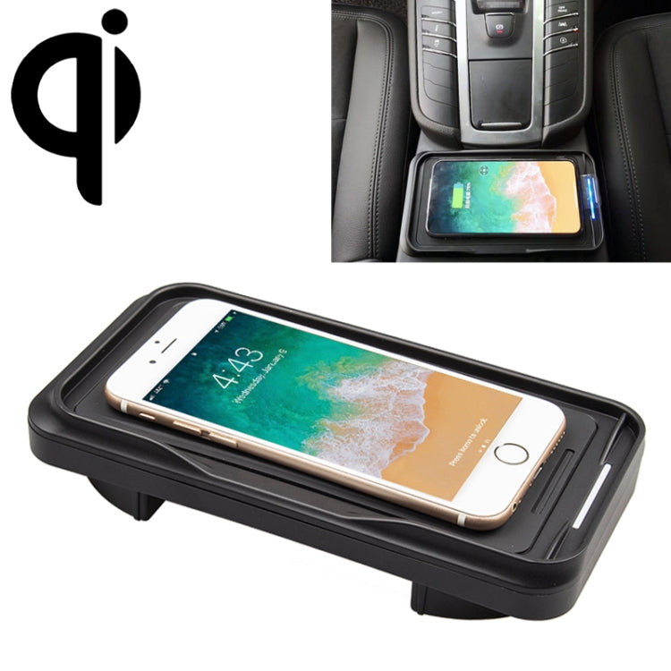 Car Qi Standard Wireless Charger 10W Quick Charging for Porsche Macan 2015-2019, Left Driving |