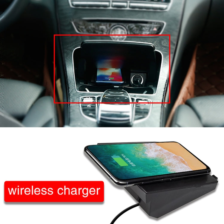 Car Qi Standard Wireless Charger 10W Quick Charging for Mercedes-Benz C GLC 2015-2020, Left Driving - Star Produkte