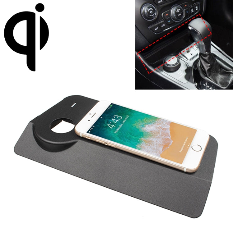 Car Qi Standard Wireless Charger 10W Quick Charging for Jeep Cherokee 2018, Left Driving |