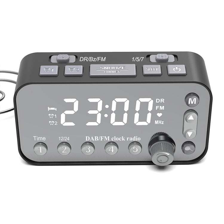 DAB-A1 European Version Large Screen DAB & FM Alarm Clock Radio with Dual USB Interface - Star Produkte