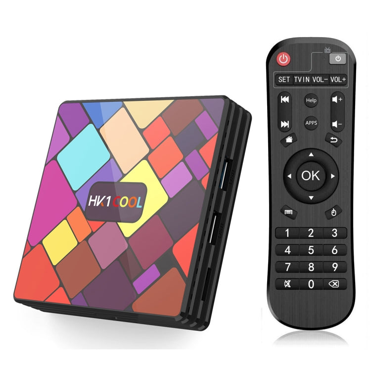 HK1COOL 4K UHD Smart TV Box with Remote Controller, Android 9.0 RK3318 Quad-core Cortex-A53, 2GB+16GB, Support WiFi & BT & AV & HDMI & RJ45 & TF Card - Star Produkte