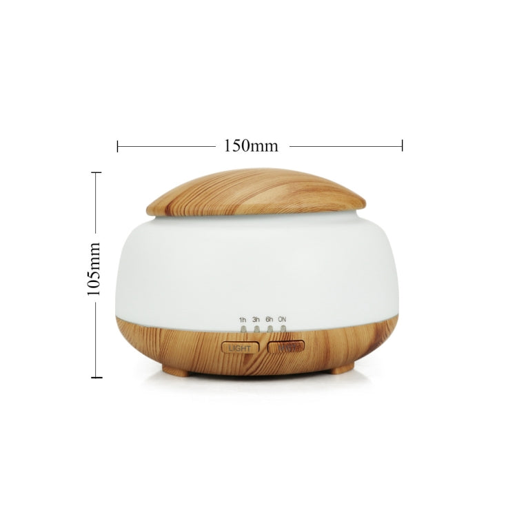 Wood Grain Humidifier Air Purifier Ultrasonic Atomization Household Aromatherapy Machine with Colorful LED Light Automatic Alcohol Sprayer, Plug Specification:UK Plug(Light Brown) - Star Produkte