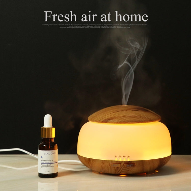 Wood Grain Humidifier Air Purifier Ultrasonic Atomization Household Aromatherapy Machine with Colorful LED Light Automatic Alcohol Sprayer, Plug Specification:UK Plug(Dark Brown) |