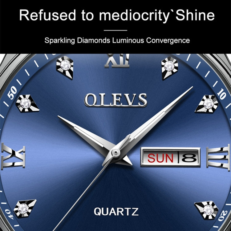 OLEVS 5570 Men Fashion Business Style Waterproof Quartz Watch(Black) - star-produkte.myshopify.com