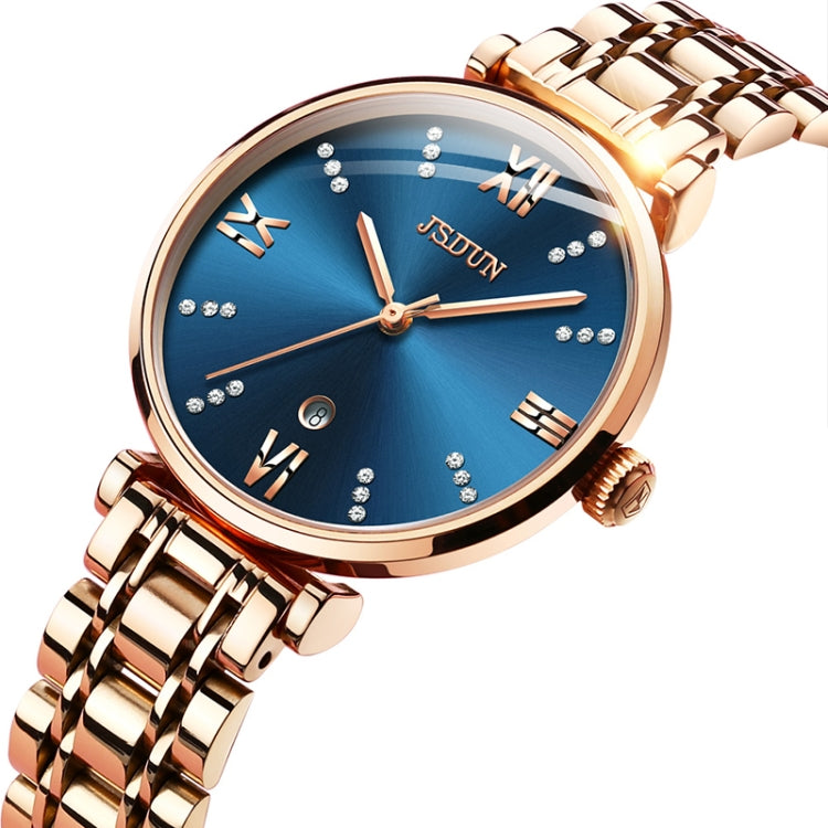 JIN SHI DUN 6533 Women Fashion Waterproof Ultra-thin Quartz Watch(Blue) - Star Produkte