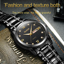 OLEVS 8691 Men Business Luminous Dual Calendar Design Waterproof Quartz Watch(Black) - Star Produkte
