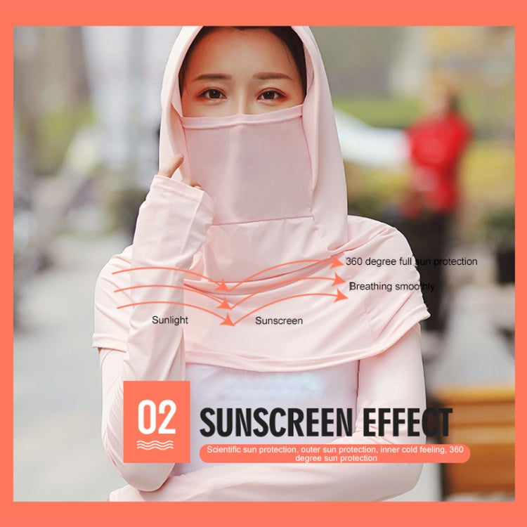 Summer Outdoor Ice Silk Headscarf Shawl Face Mask Multi-functional Sun Protection Equipment(Pink) - Star Produkte