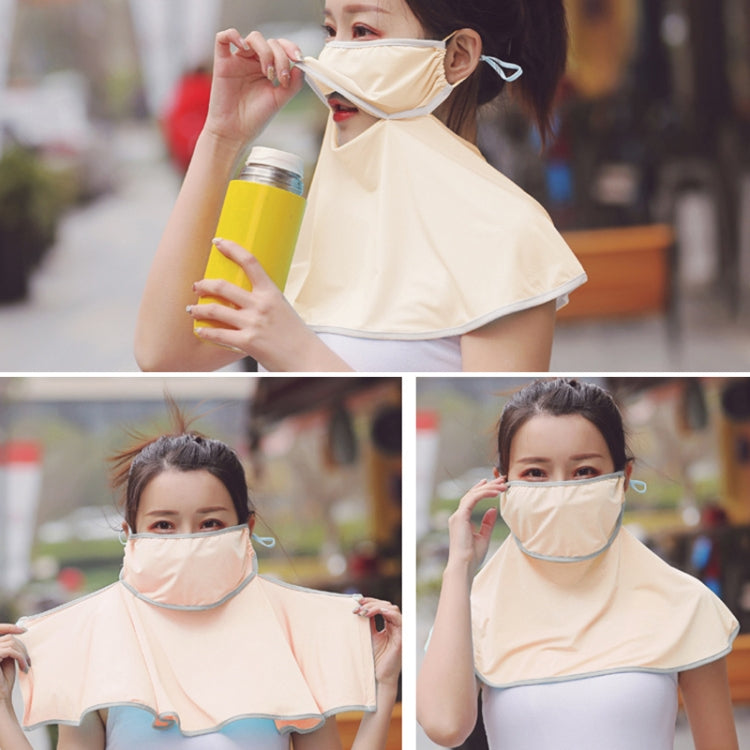 Summer Outdoor Ice Silk Sunshade Face Mask Sun-proof Shawl(Beige) - Star Produkte