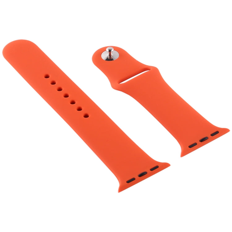 For Apple Watch Series 6 & SE & 5 & 4 44mm / 3 & 2 & 1 42mm Silicone Watch Replacement Strap, Short Section (Female)(Cobalt Bue) - star-produkte.myshopify.com