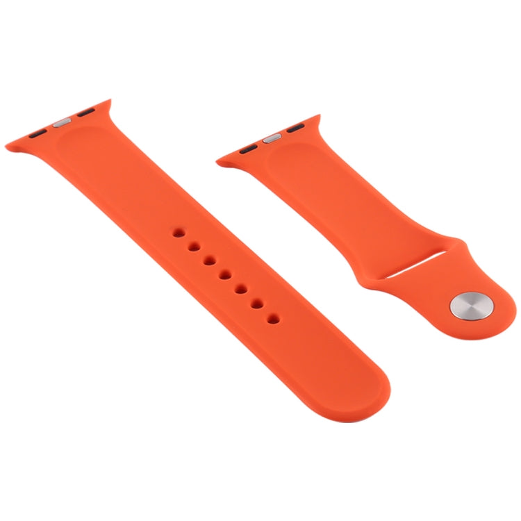 For Apple Watch Series 6 & SE & 5 & 4 40mm / 3 & 2 & 1 38mm Silicone Watch Replacement Strap, Short Section (Female)(Dragon Fruit) - star-produkte.myshopify.com