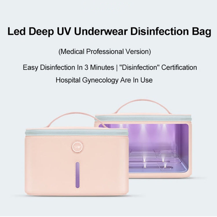Original Xiaomi Youpin P30 59 Seconds LED Deep Ultraviolet Sterilization Drying Disinfection Bag(Pink) - Star Produkte