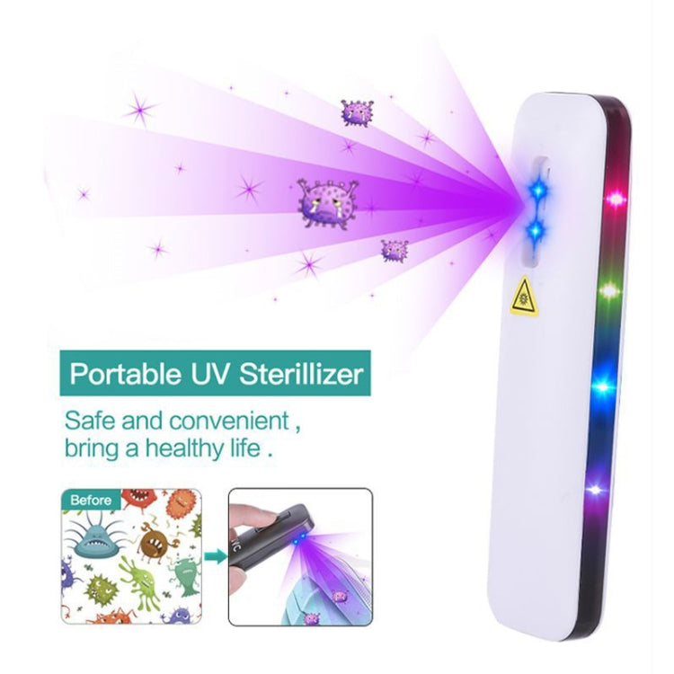 Solid Color UVC Handheld Portable Ultraviolet Disinfection Lamp (Blue) - Star Produkte