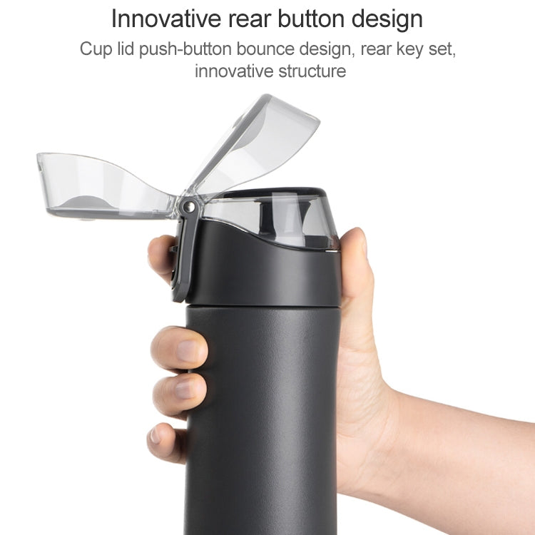 Original Xiaomi Youpin Fun Home Sports Thermos Mug Heat Preservation Drinking Cup Stainless Steel Outdoor Water Bottle, Capacity: 500ml(Black) - Star Produkte