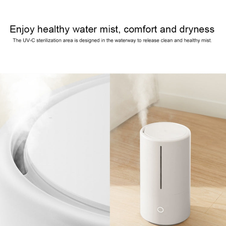 Original Xiaomi Mijia Intelligent Humidifier UV-C Sterilization Air Purifier Transmission Aromatherapy Essential Oil Mist Diffuser Maker Automatic Alcohol Sprayer, US Plug(White) |