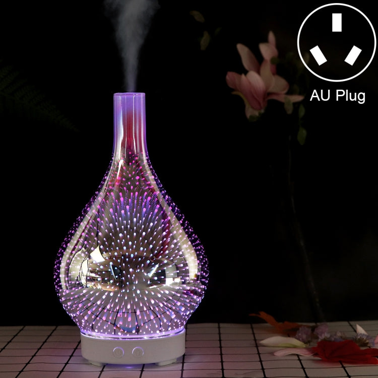 Mini 100ml Household Humidifier Ultrasonic Creative Purification 3D Glass Aromatherapy Machine Automatic Alcohol Sprayer, AU Plug |