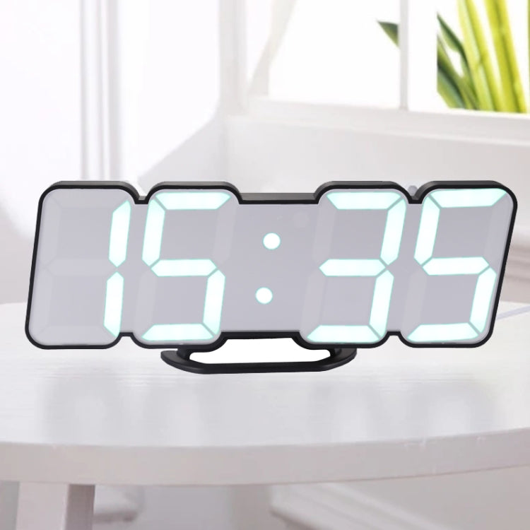 Modern 3D LED Sound Control Colorful Digital Alarm Clock Adjust Brightness Electronic Wall Glowing Hanging Clock with Remote Control(Black) - Star Produkte