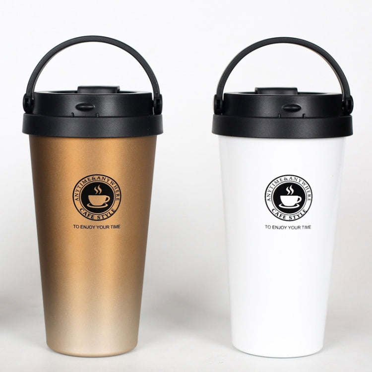 500ml Portable Double Wall 304 Stainless Steel Liner Vacuum Insulated Coffee Cup Bottle(Gold) |