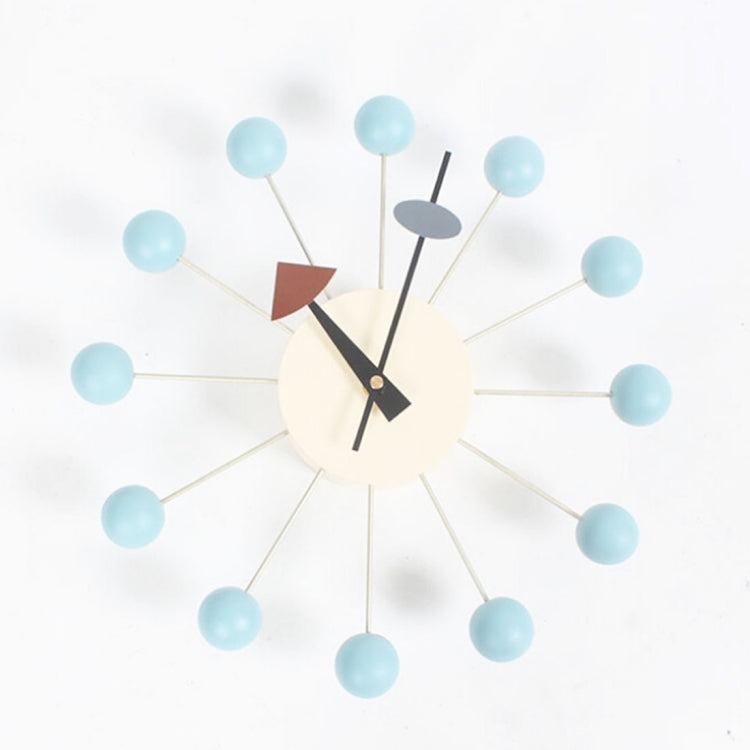 Stylish Background Minimalis Circular Balls Candy Wall Clock Creative Decoration Clock Ferris Wheel Clock(Baby Blue) - star-produkte.myshopify.com