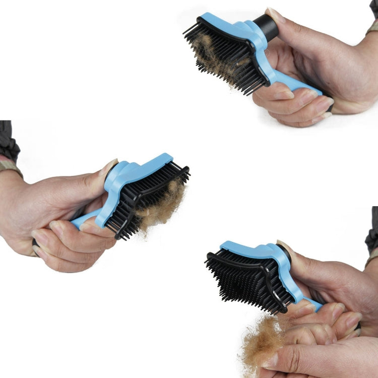 Elite Multi-functional Plastic Grooming Comb Cut Tangles Tool Pet Brushes(Pink) - star-produkte.myshopify.com