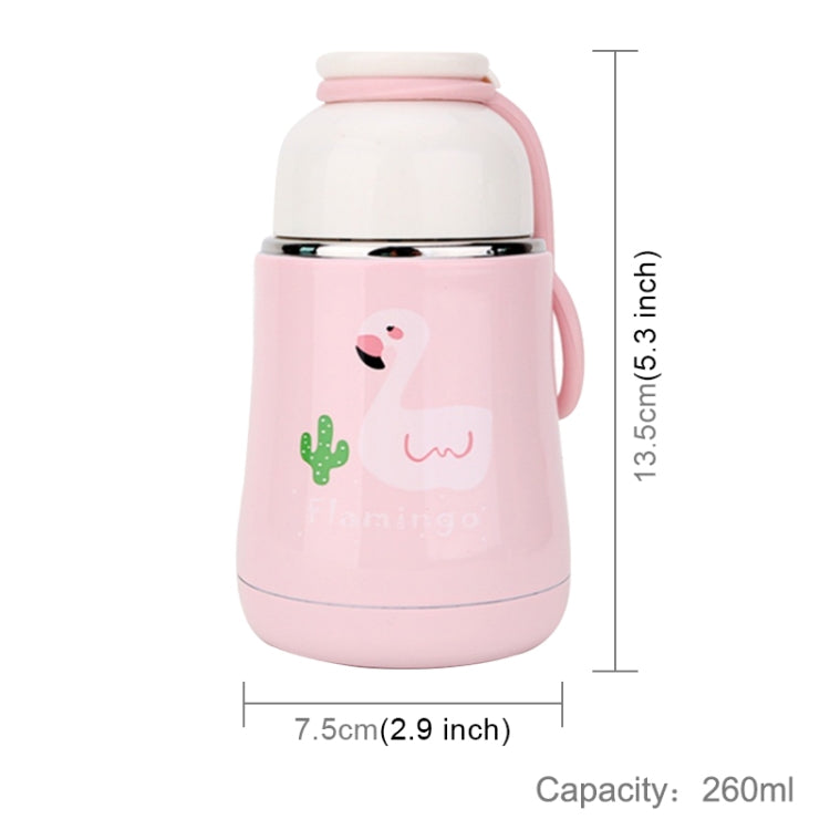 260mL Fashion Innovative Cartoon Flamingo Mug Student Portable Handy Belly Cup(Pink Flamingo Pattern) - Star Produkte