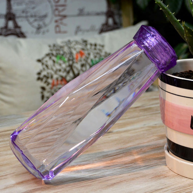 620ml Leak Proof Transparent Plastic Irregular Water Bottle With Cap For Outdoor, Home And Office(Purple) |