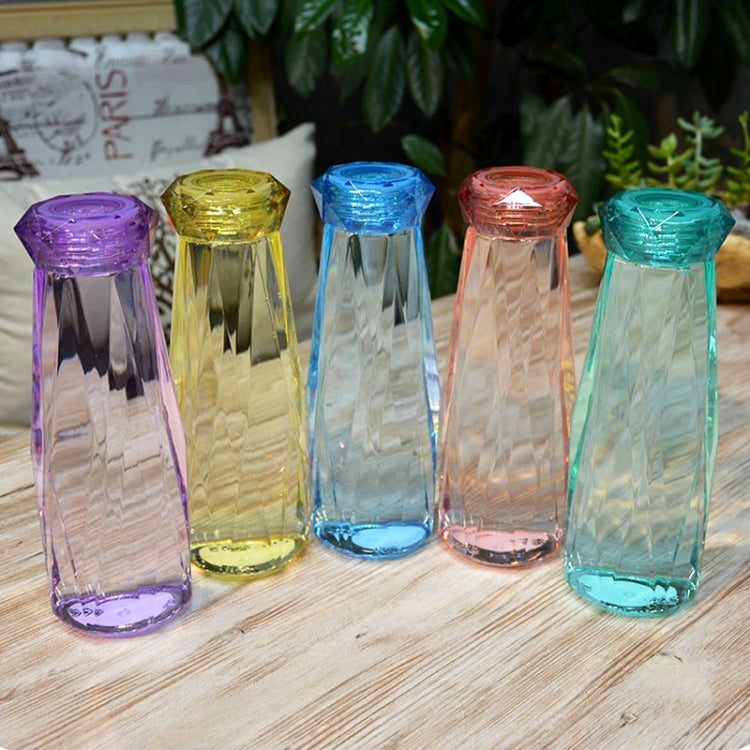 620ml Leak Proof Transparent Plastic Irregular Water Bottle With Cap For Outdoor, Home And Office(Yellow) |
