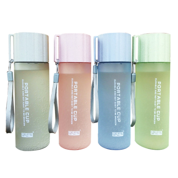 550ml Leak Proof  Brief Designing Plastic Water Bottle With Handle Strap For Common Using(Green) |