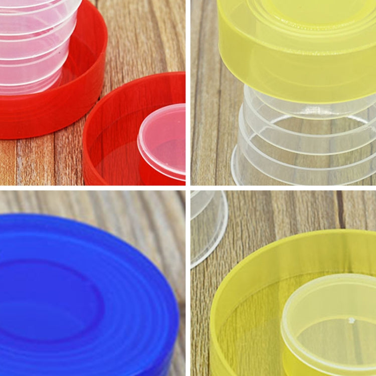4pcs 200ml Fashionable Outdoor Activity Using Plastic Portabel Folding Dringking Cup - Star Produkte
