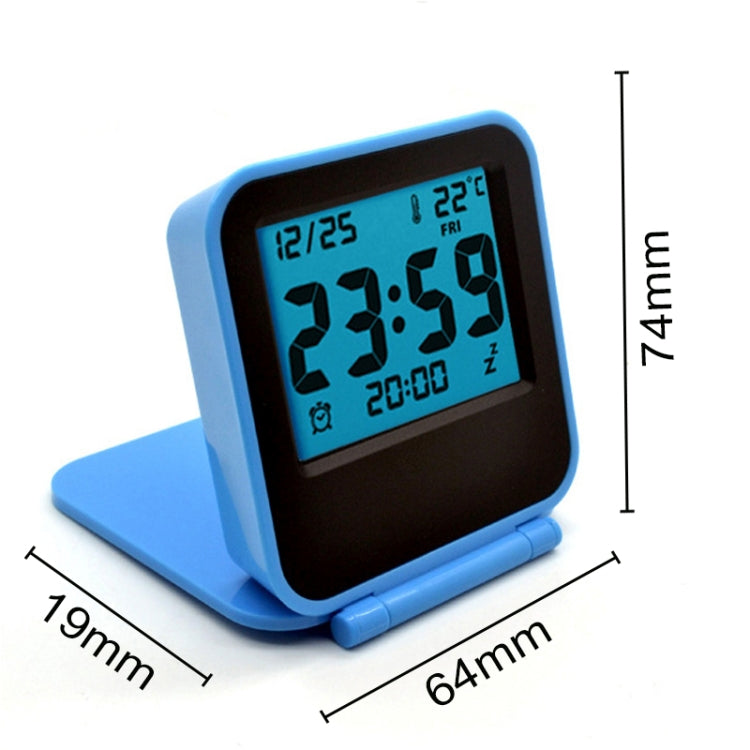 AQ-133 LCD Display Digital Travel Alarm Clock Office Table Alarm Clock With Night Light, Random Color Delivery - Star Produkte