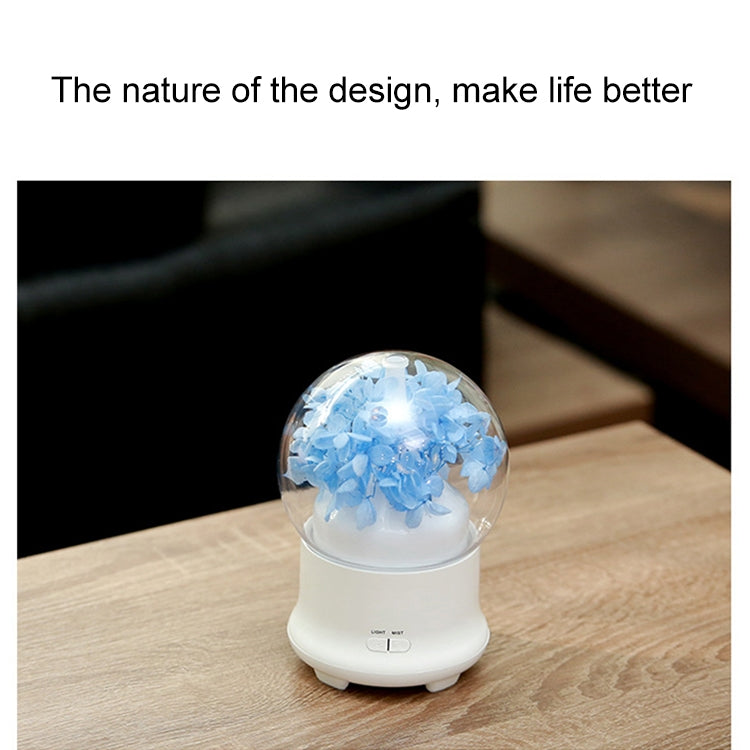 ML-824 100ML Gypsophila Flowers Aromatherapy Diffuser Air Humidifier with Colorful LED Light for Office / Home(Blue) |
