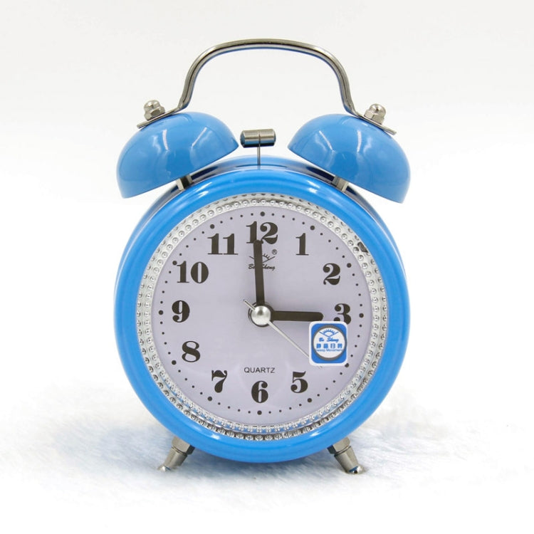Fashion Mute Metal Alarm Clock with Night Light, Size: 12*8.5cm(Blue) - Star Produkte