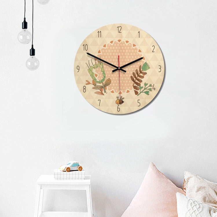Forest Style Bee Pattern Home Office Bedroom Decoration Wooden Mute Wall Clock, Size : 28c - Star Produkte