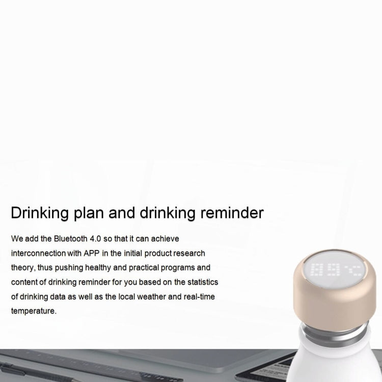 G2 400mL OLED Screen Bluetooth Smart Drinking Water Cup, Support Water Temperature Display & Drinking Water Reminder & Expired Water Reminder & Find the Cup (White) - Star Produkte