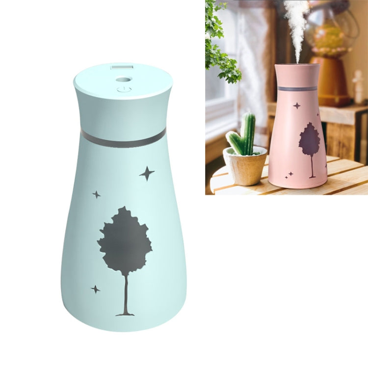 Kuyou F9 Maple Shadow Household Vehicle Mute Air Humidifier Aromatherapy Machine Automatic Alcohol Sprayer with USB Cable & USB Light & Fan(Baby Blue) |
