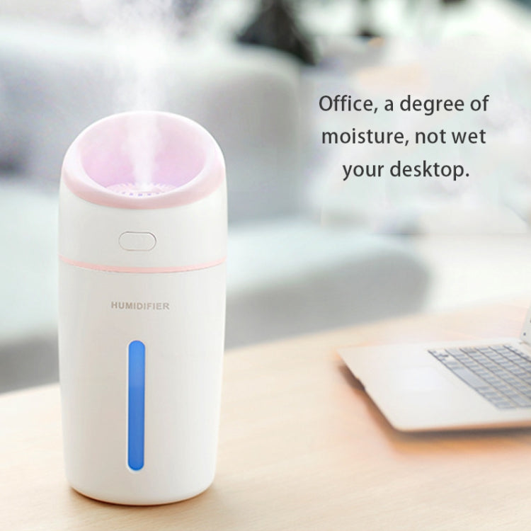 L8 2.5W Portable USB Mute Mini Humidifier Nebulizer with Colorful LED Atmosphere Light for Office, Home Bedroom, Car, Support USB Output, Capacity: 320ml, DC 5V(Blue) |